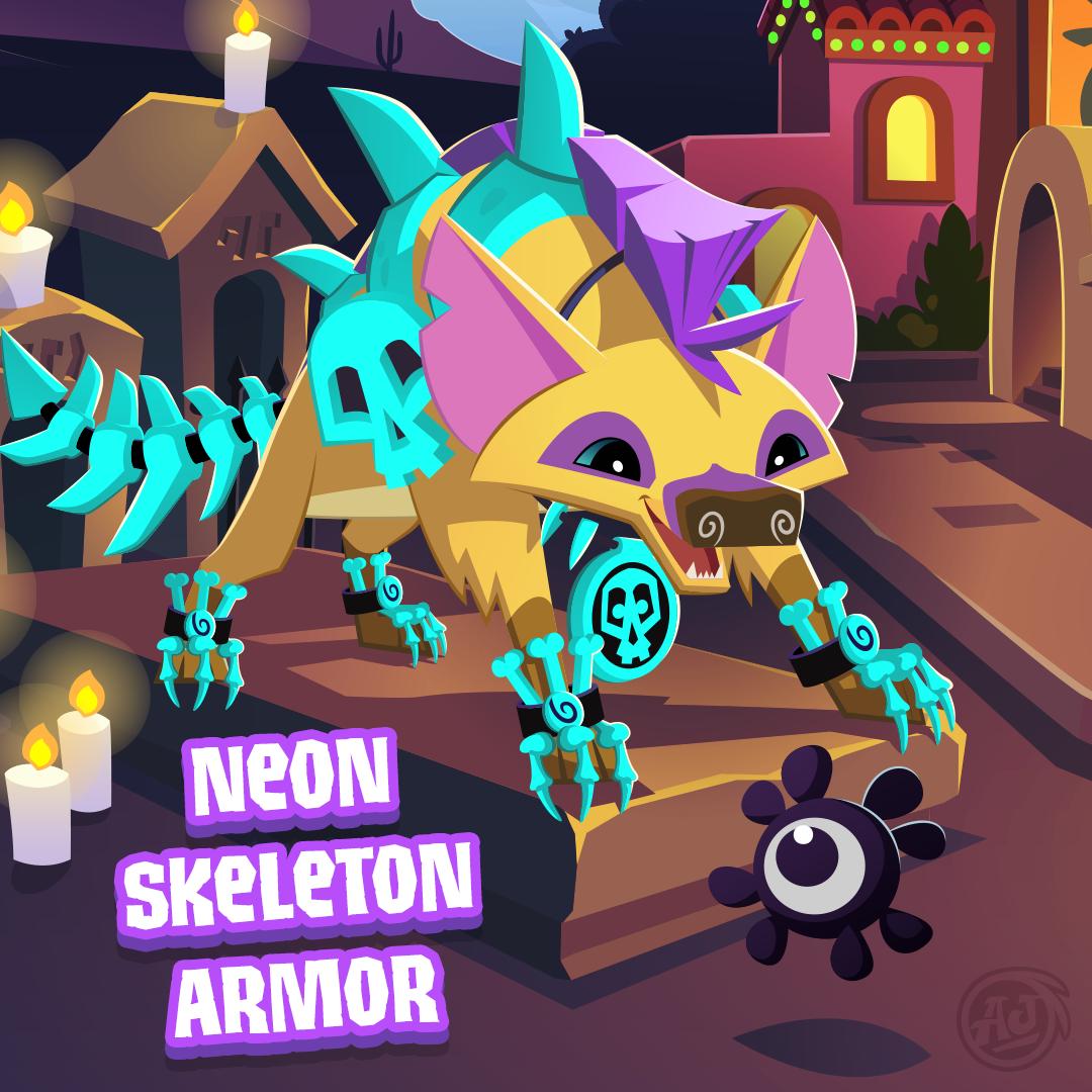 20181028 PW NeonSkeletonArmor 2
