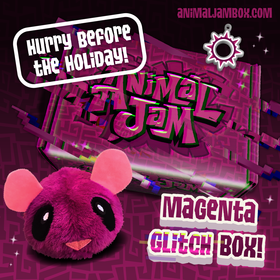 Winter2019 MagentaGlitchBox Hurry