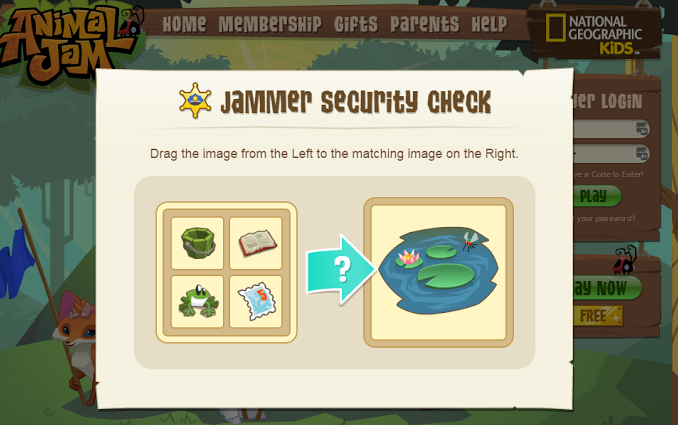 Jammer Safety - Why do I have to pick an image to log in
