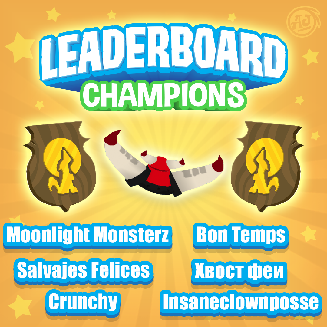 Leaderboard champion post August 31 2018