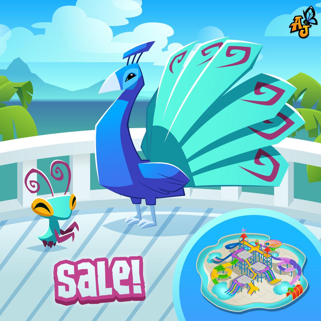 20210817 Sale Summer Splash Pad, Peacock, Praying Mantis-01