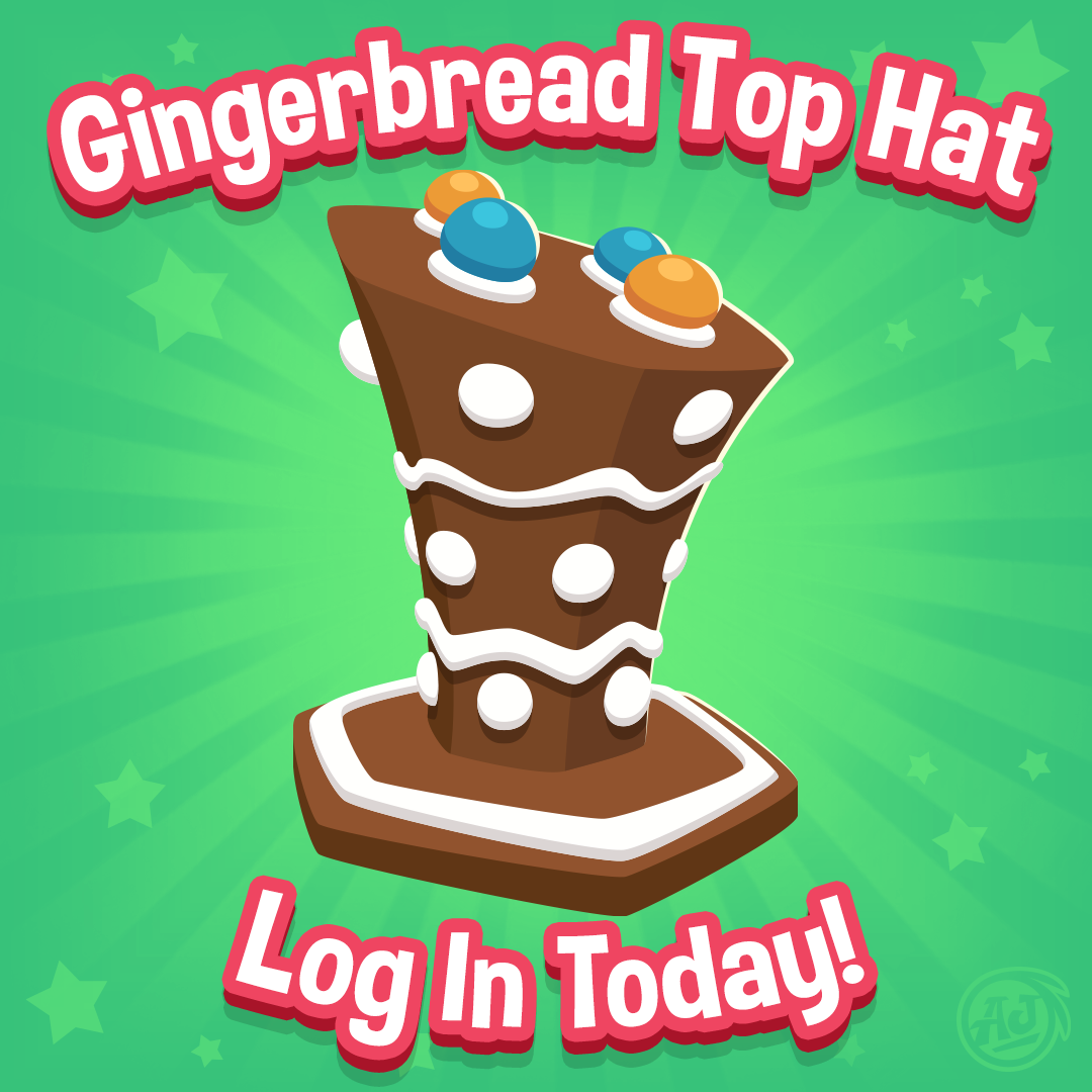 Image of: Spiked Top Kateremake Gingerbreadtophat 20181213 The Daily Explorer Animal Jam Todays Animal Jam Jamaalidays Gift The Gingerbread Top Hat The